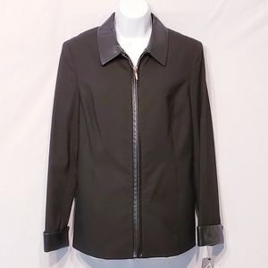Alfani Jacket with Leather Trim